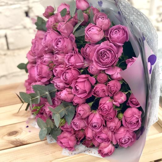 Букет из пионовидных роз Мисти Баблс: букеты цветов на заказ Flowwow
