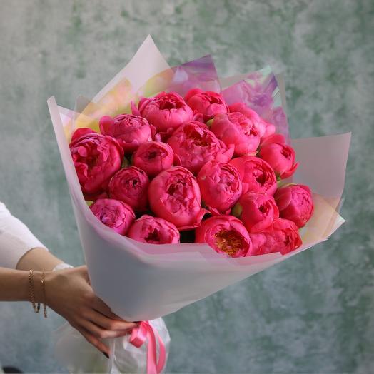 Пионы Корал Шарм: букеты цветов на заказ Flowwow
