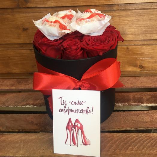 Бокс Роза |раффаэлло: букеты цветов на заказ Flowwow