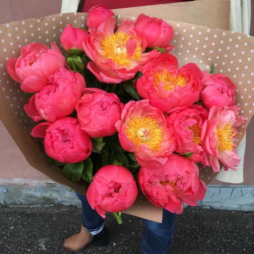 15 пионов: букеты цветов на заказ Flowwow