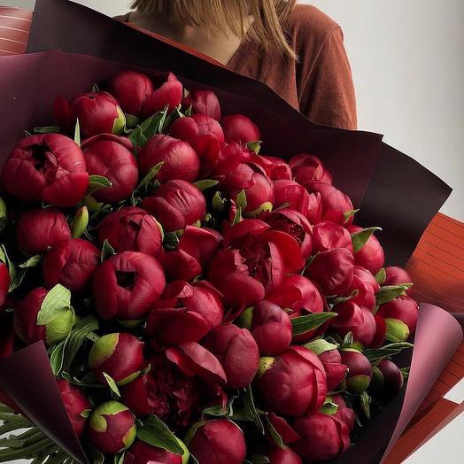 Пионы Ред шарм: букеты цветов на заказ Flowwow