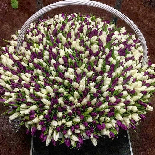 """1001 тюльпан """"Маме в знак глубокого уважения и любви"""": букеты цветов на заказ Flowwow"""