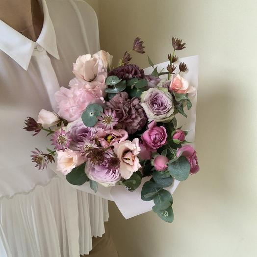 Нежно розовый букет: букеты цветов на заказ Flowwow