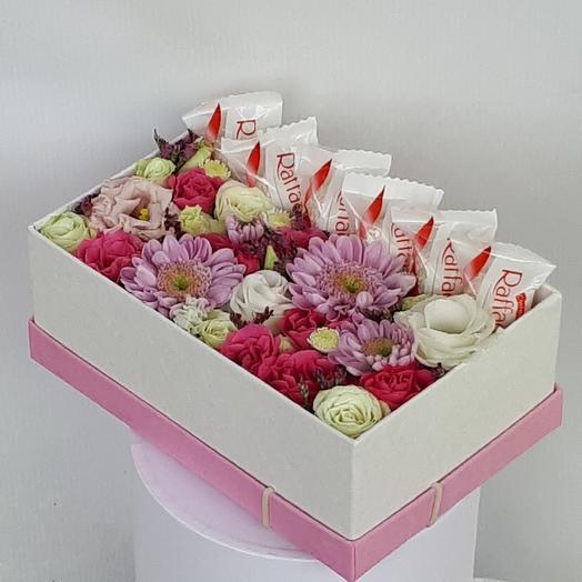 "Коробочка ""Летний вечер"": букеты цветов на заказ Flowwow"