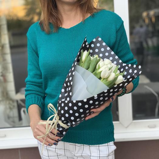21 белый тюльпан: букеты цветов на заказ Flowwow