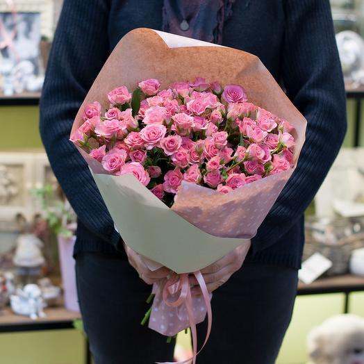 Букет из кустовых роз (21 кустовая роза)