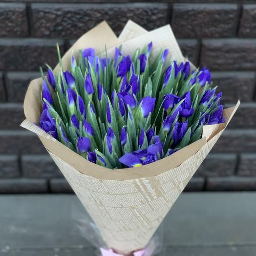 99 ирисов: букеты цветов на заказ Flowwow