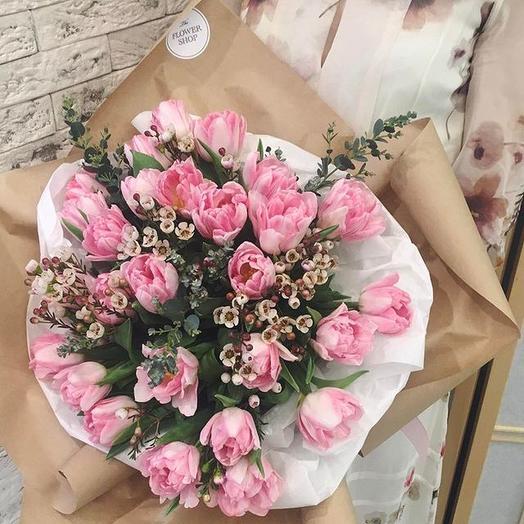 Букет из 27 тюльпанов: букеты цветов на заказ Flowwow
