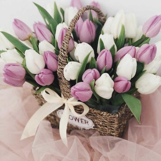 Корзина весны: букеты цветов на заказ Flowwow