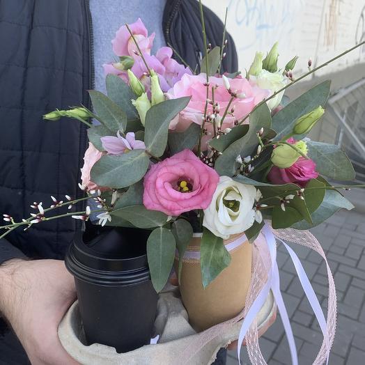 Идеальный Набор( цветы+кофе/ чай)