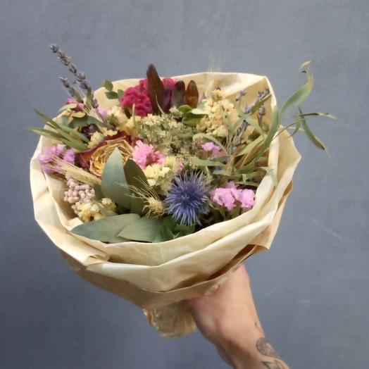 Букет из Ароматных Сухостоев): букеты цветов на заказ Flowwow