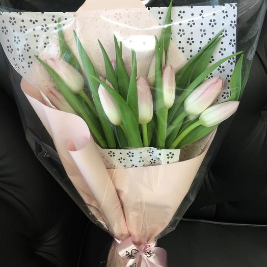 Букет из розовых тюльпанов_9