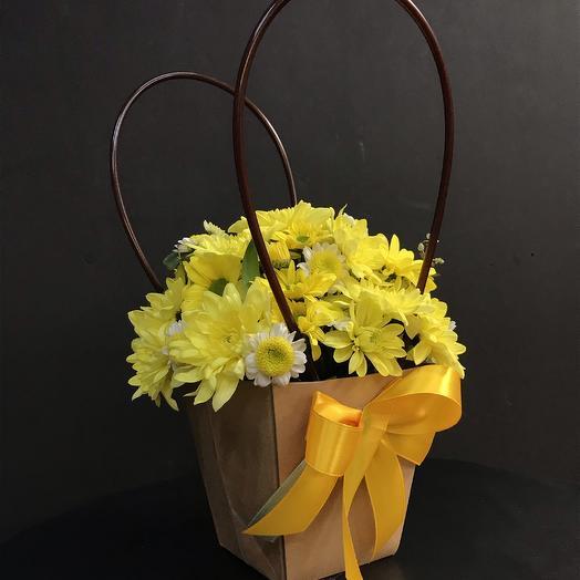 Солнышко в лукошке: букеты цветов на заказ Flowwow
