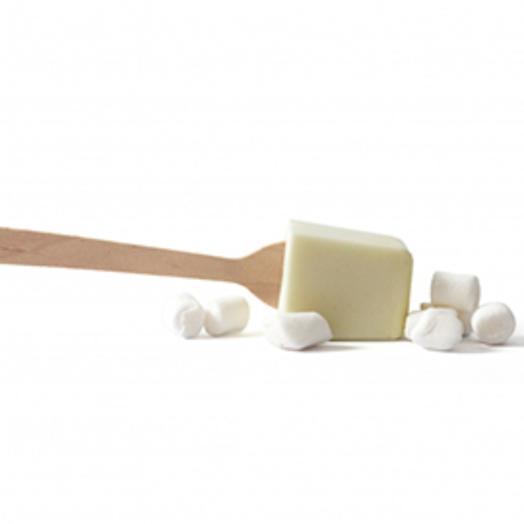 Белый горячий шоколад на стике с зефиром