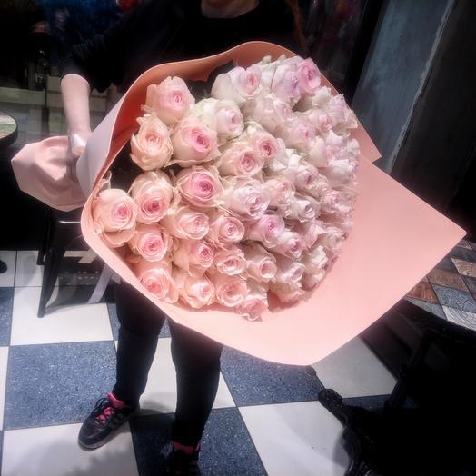 Сеньорита - Букет из 51 розы 70 см