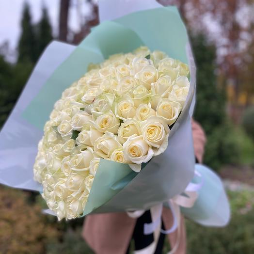 Букет белых роз (101 шт)