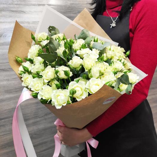 ✅ Букет 💐 кустовая роза в Крафт бумаге