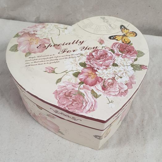 """Коробка подарочная """"Сердце"""" 215×90мм"""