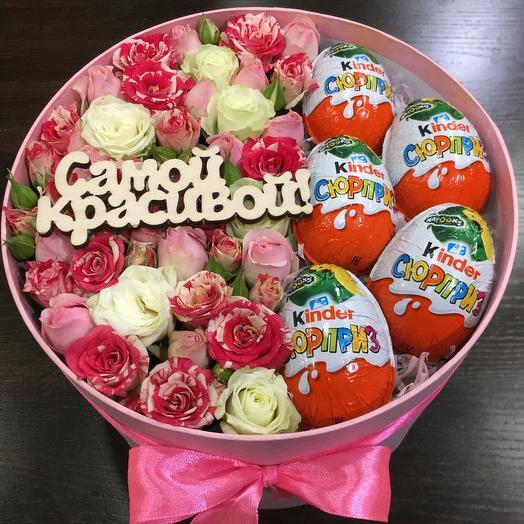 Цветы в коробке 0034783