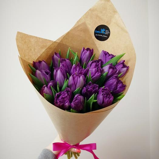 Тюльпаны пионовидные 19 шт