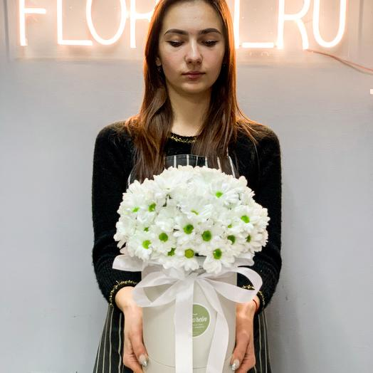 Цветы в коробке «Утренняя улыбка»