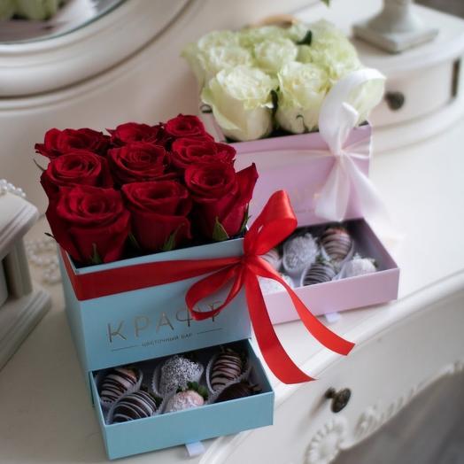 Шкатулка с розами М