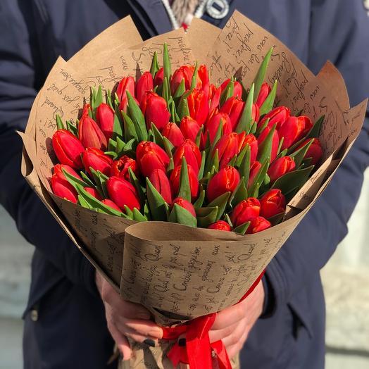 Букет Тюльпаны Красные