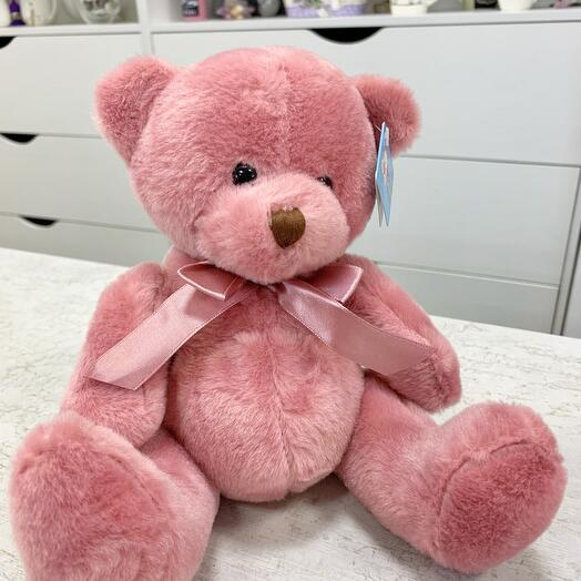 Мишка «Розовая пудра» 19*19см
