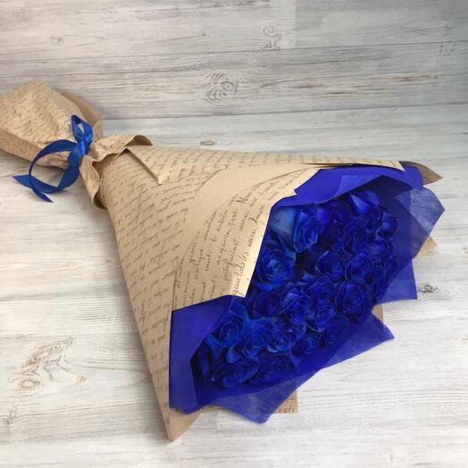 25 Синие розы