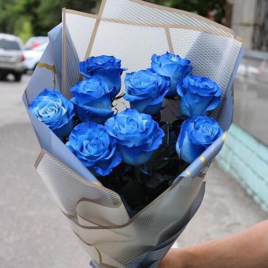 синие розы для удивления