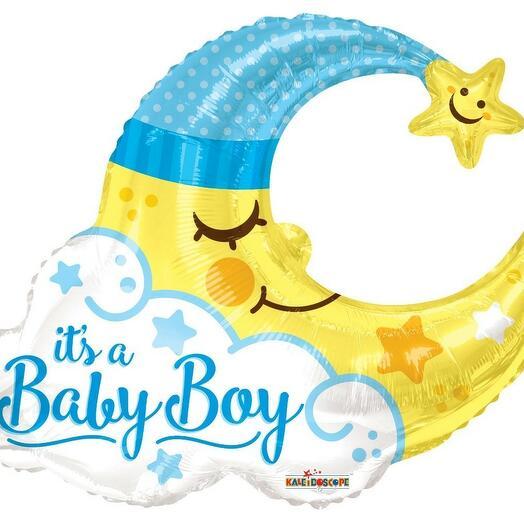 Фигура месяц It s a baby boy выписка мальчик