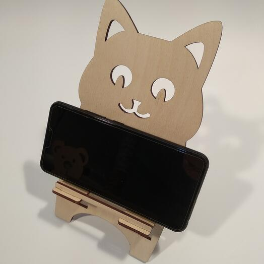 "Подставка под телефон  ""Котёнок "" 116x222мм подставка под планшет, подставка под книгу"