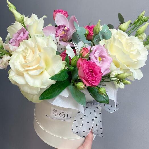 Коробка с цветами «Романтика»