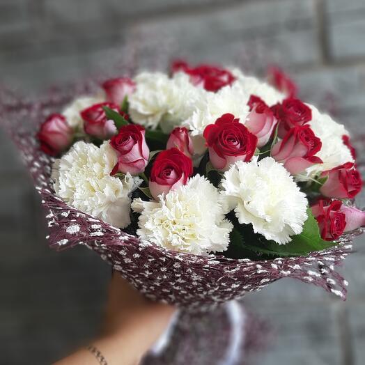 Букет роза кустовая