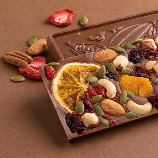 Плитка бельгийского шоколада ручной работы (разные вкусы) Verona.Chocolatier (90 гр)