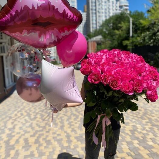 Букет из 33 роз 🔥🔥🔥