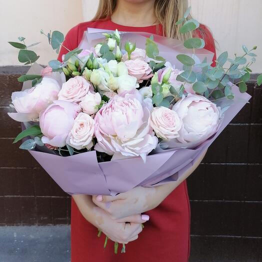 Букет розовая зефирка