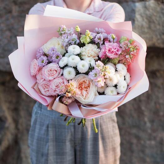 Нежный букет сборных цветов «Prima»