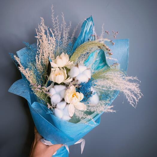 Голубые сухоцветы