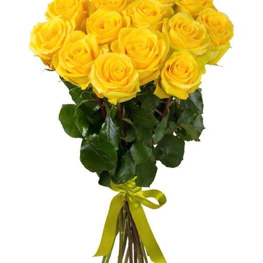 15 роз 60 см Букет Золотой букет: букеты цветов на заказ Flowwow