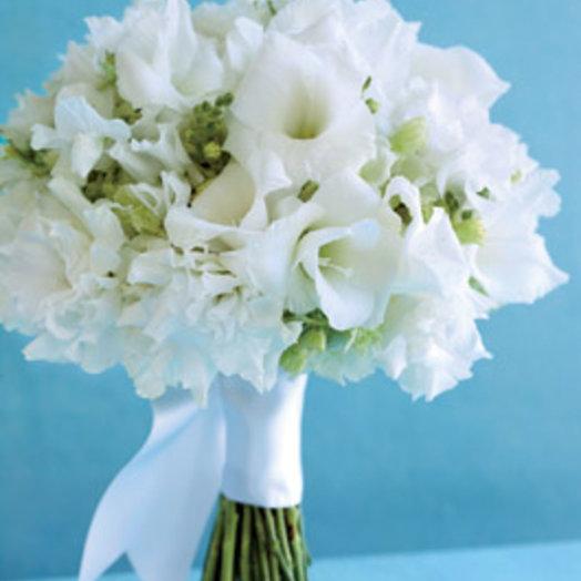 Букет невесты из латируса и эустомы: букеты цветов на заказ Flowwow