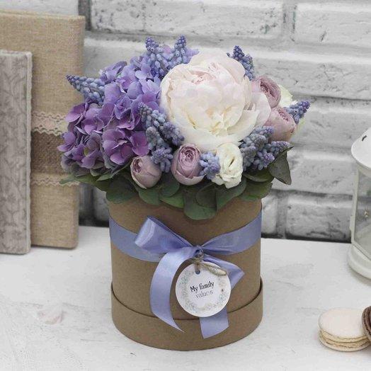 Цветы в коробке S (14 см) 0567