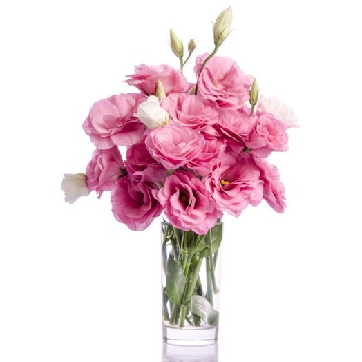 Bouquet of pink lysianthus: flowers to order Flowwow