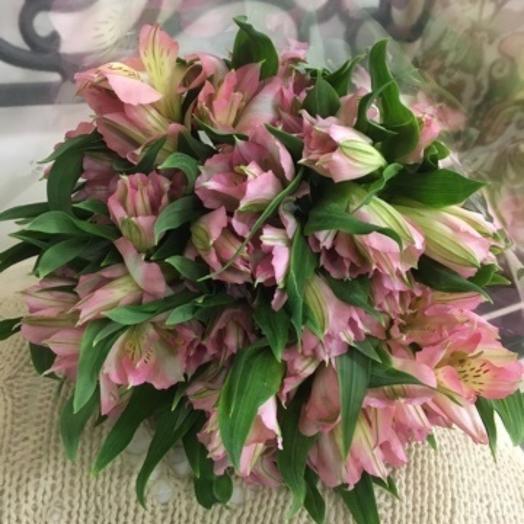 Букет из 7 розовых альстромерий: букеты цветов на заказ Flowwow