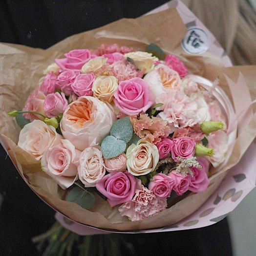 Красивый букет из роз BOUQUET 63: букеты цветов на заказ Flowwow