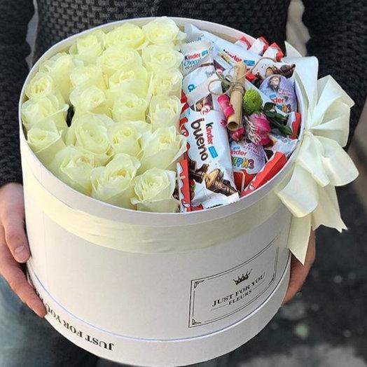 Шляпная коробочка 2в1: букеты цветов на заказ Flowwow