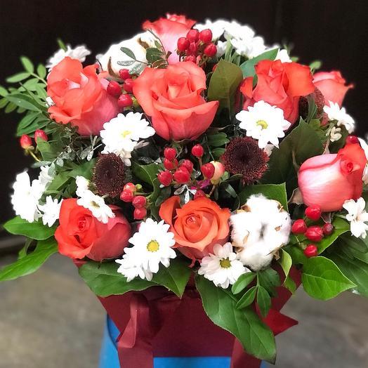 Роза хлопок: букеты цветов на заказ Flowwow