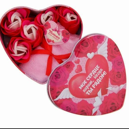 Набор Сердце для любимой: букеты цветов на заказ Flowwow