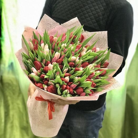 151 тюльпан микс: букеты цветов на заказ Flowwow