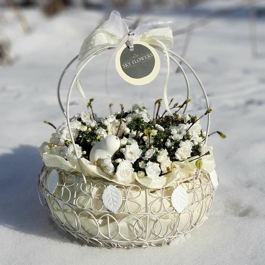 Белоснежная: букеты цветов на заказ Flowwow